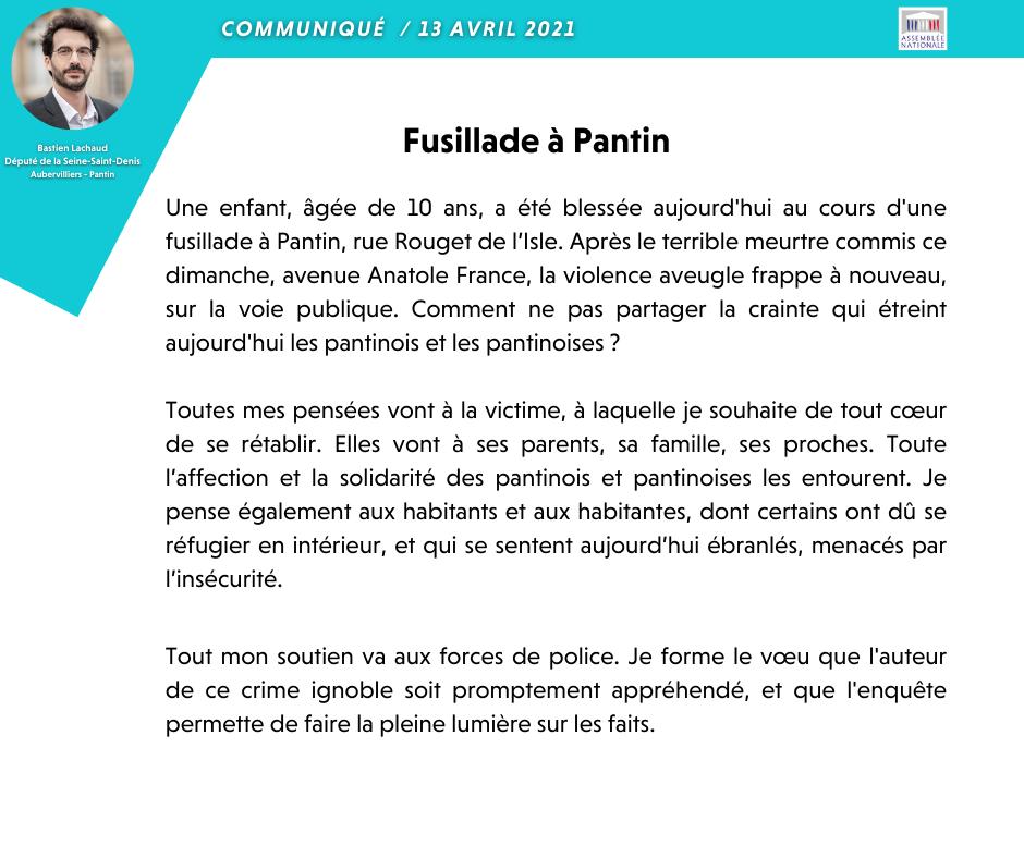 fusillade Pantin